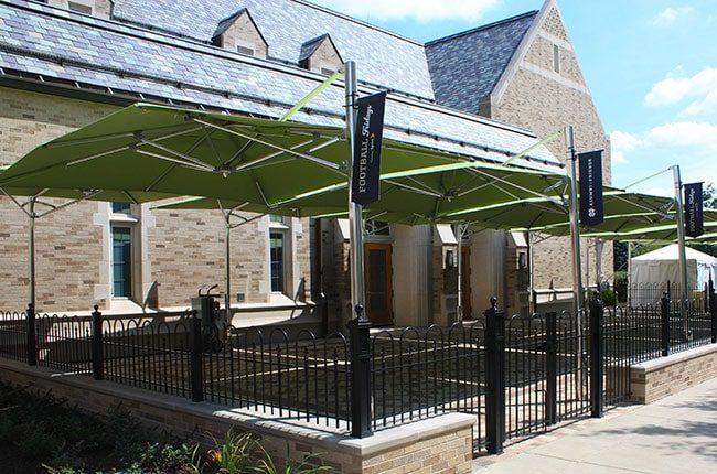 Notre Dame Eck Visitors Center Patio